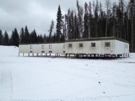 Progress Altares production camp set onto piles